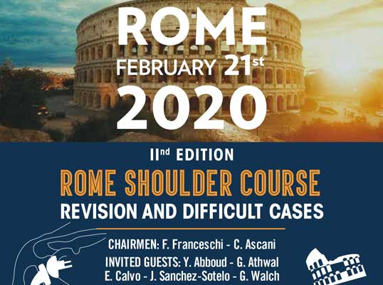 ROME SHOULDER COURSE. Revision and difficult cases