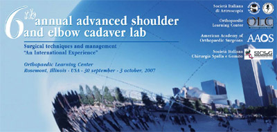 6th Annual Advanced Shoulder And Elbow Cadaver Lab